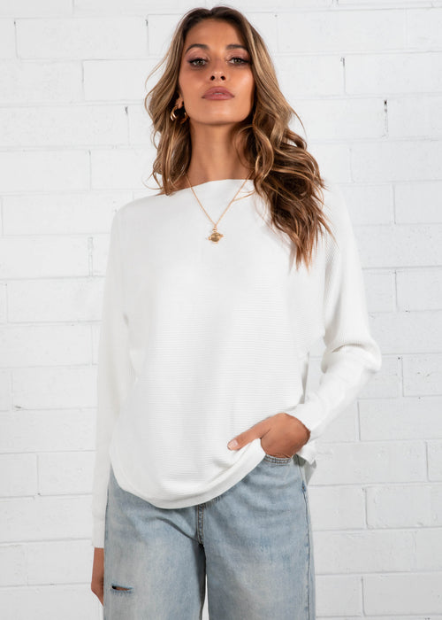 Try Me Sweater - White