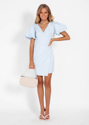 Take it to Heart Wrap Dress - Blue