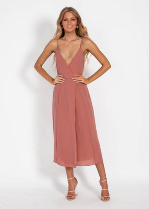 Sunset Boulevard Midi Dress - Mocha
