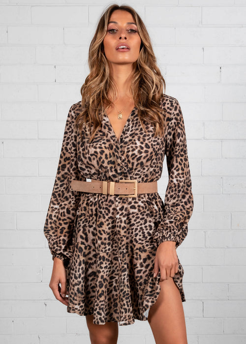 Deja Vu Swing Dress - Leopard