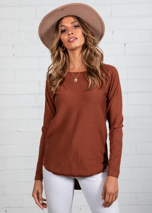 Always Mine Knit Top - Tan