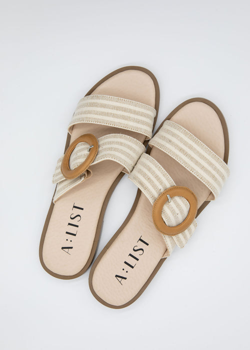 Winnie Slide - Natural Stripe
