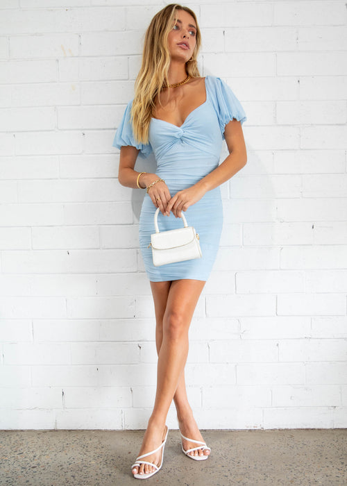Mexican Sky Mini Dress - Blue