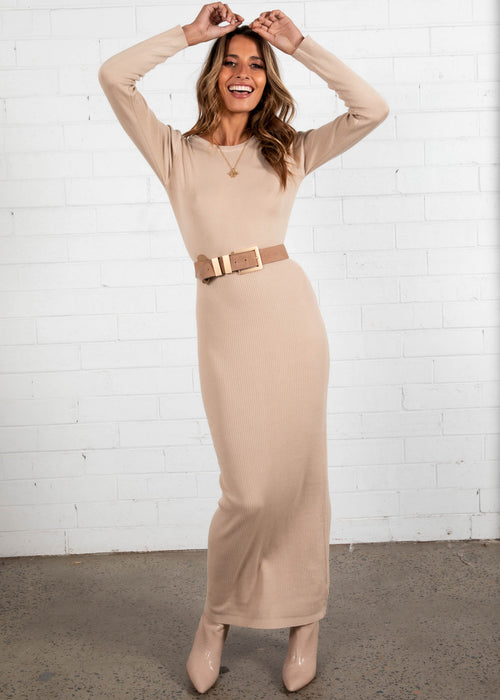 Katia Knit Maxi Dress - Camel