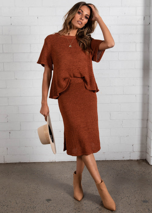 Kilah Knit Set - Rust