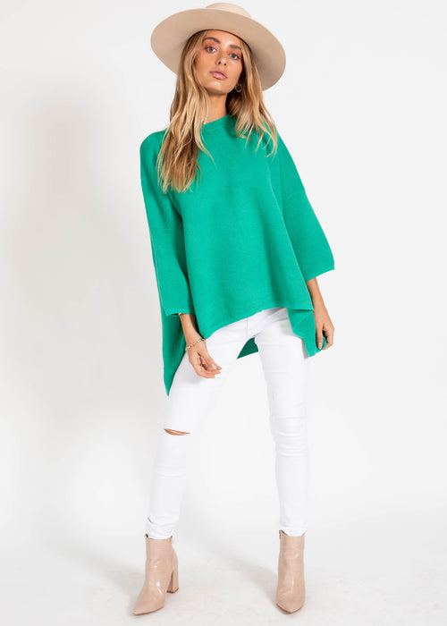 Allira Sweater - Bright Emerald