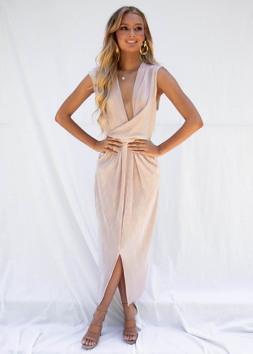 Nooki Maxi Dress - Blush