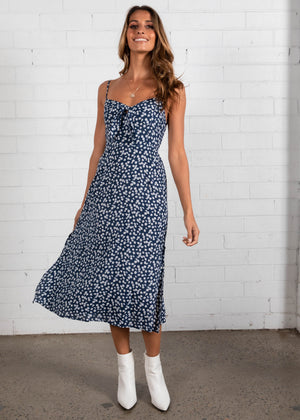 Adelle Midi Dress - Navy Floral