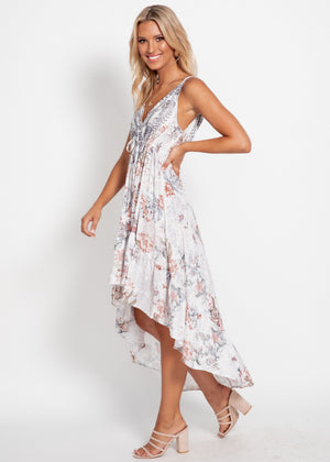 Rayana Hi-Lo Maxi Dress - Mykonos