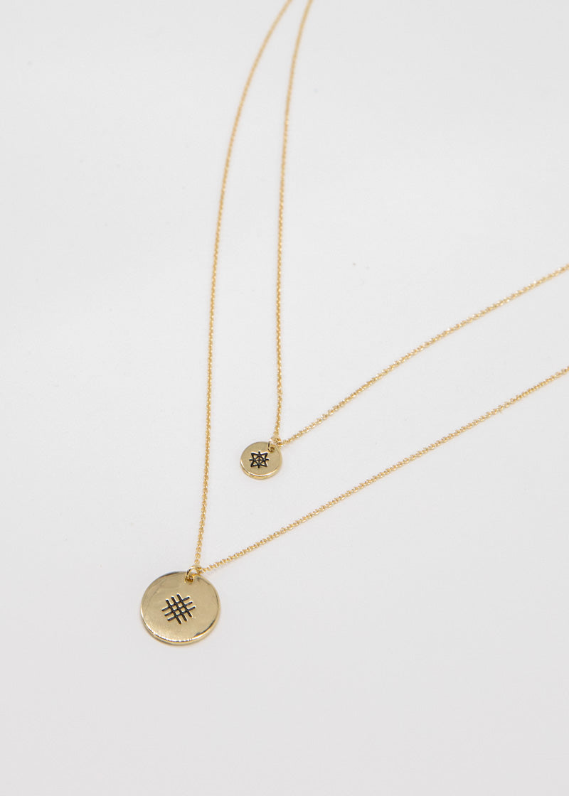 Brooke Cameo Necklace - Gold