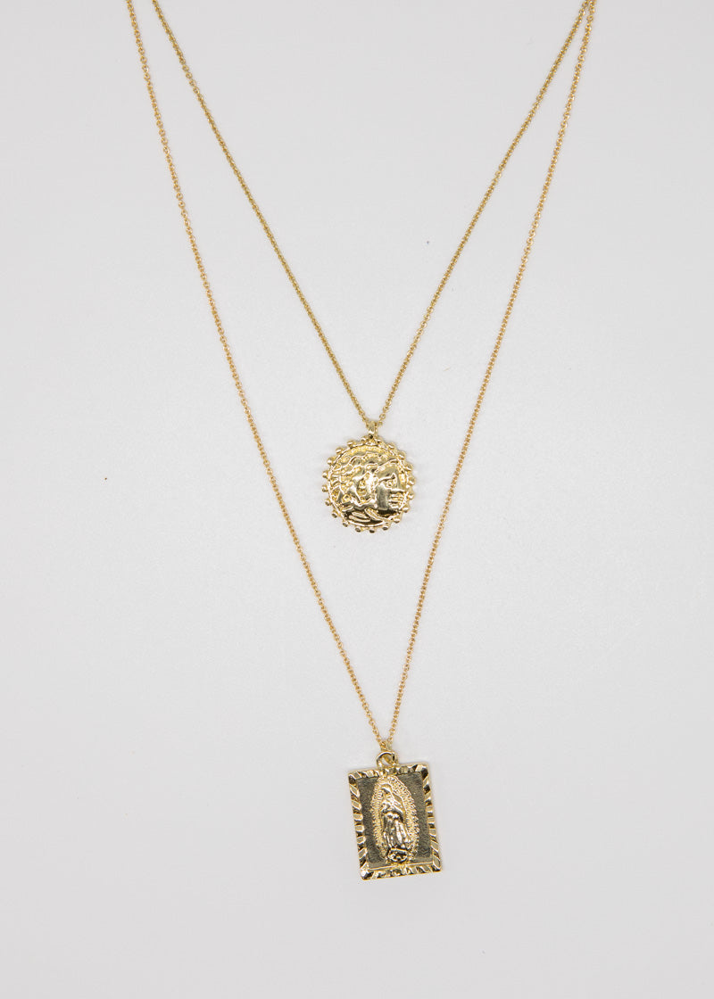 Mala Maria Necklace - Gold