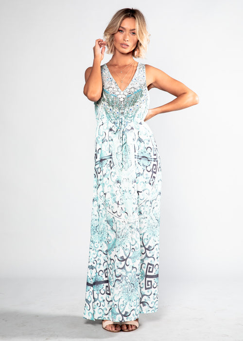Wandering Mind Maxi Dress - Oceania