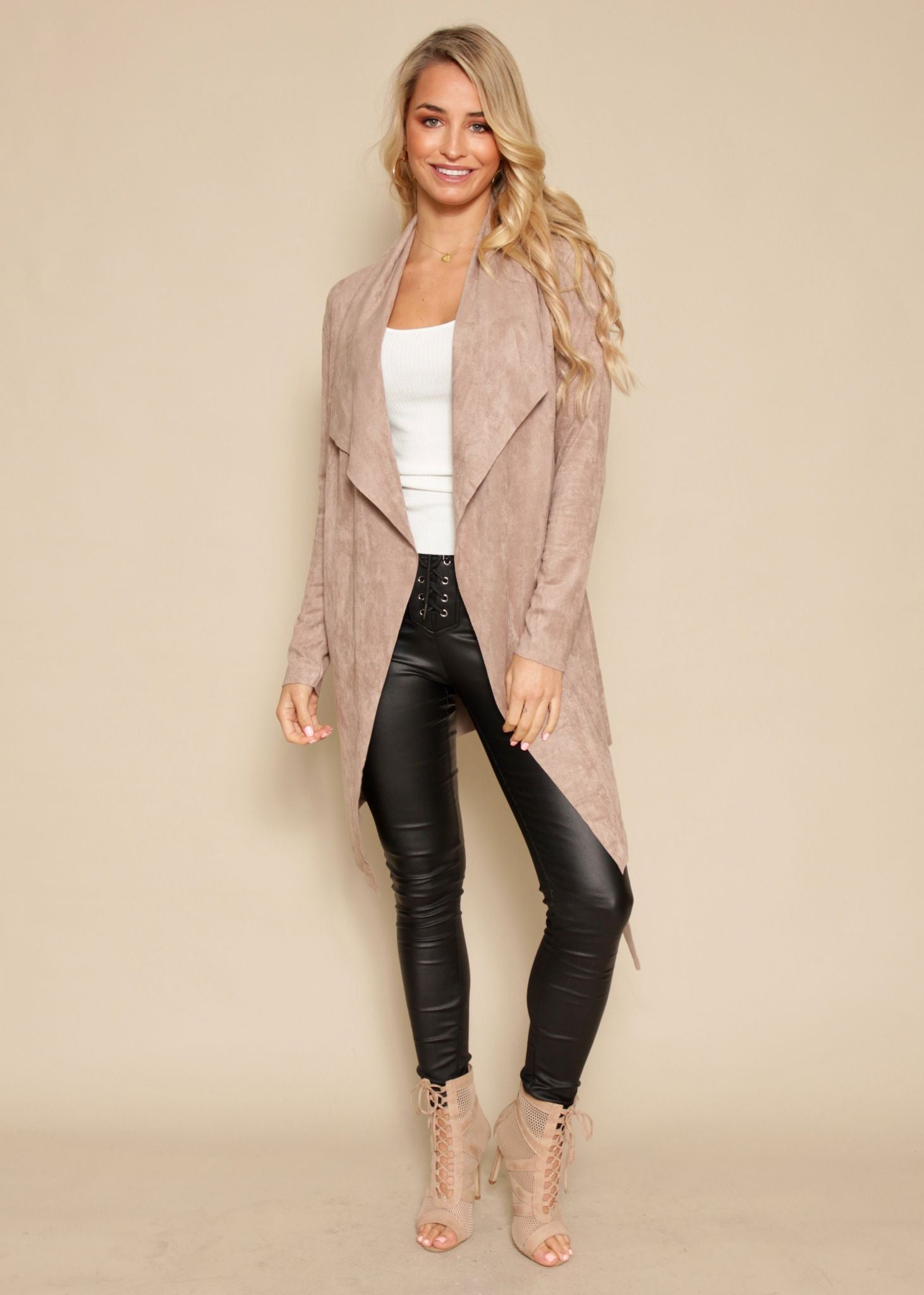 Nordic Night Suede Jacket - Taupe