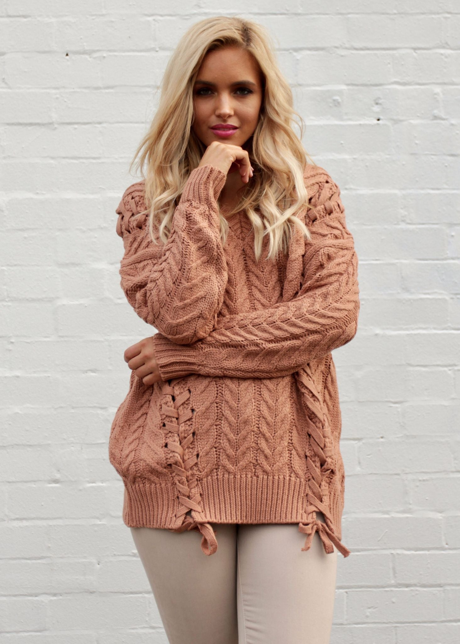 Melody Lounge Sweater - Terracotta