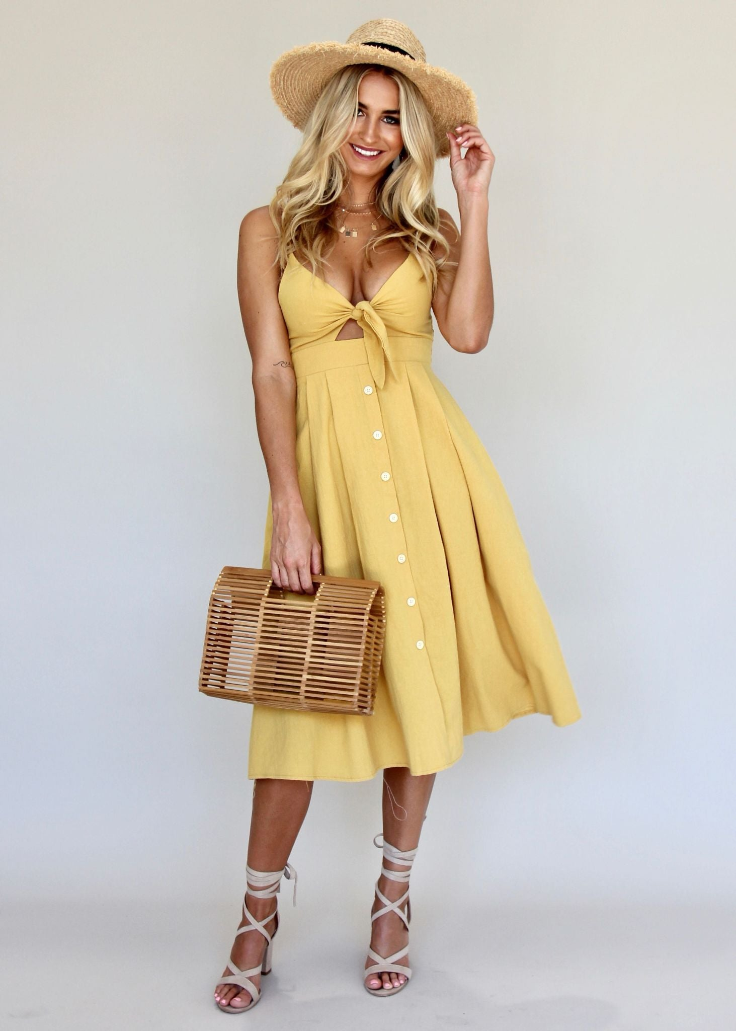 Big City Midi Dress - Butterscotch