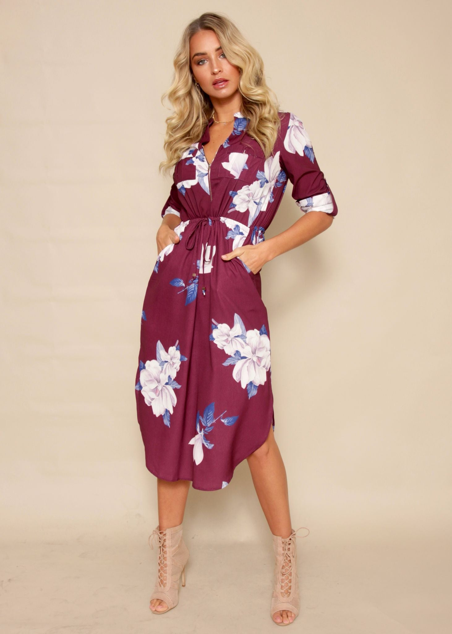 Low Lights Tunic Dress - Mulberry