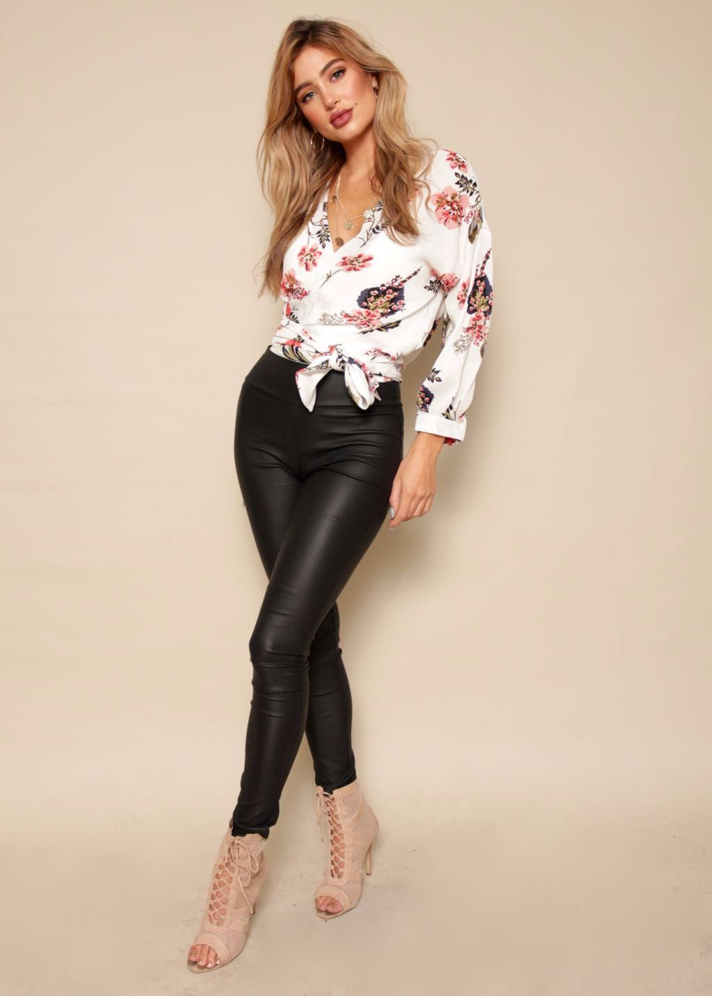 Tropical Heat Blouse - White Floral