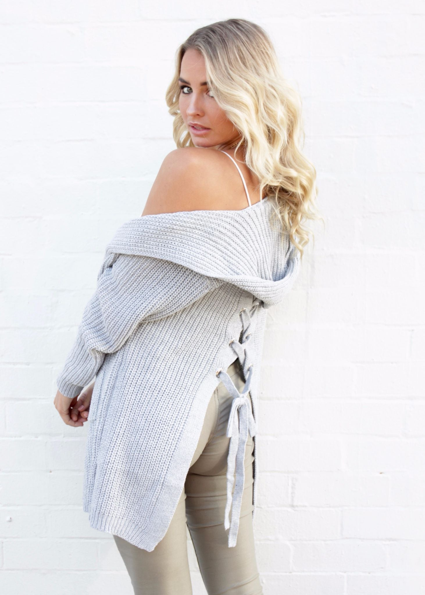 Solar Eclipse Cardigan - Grey