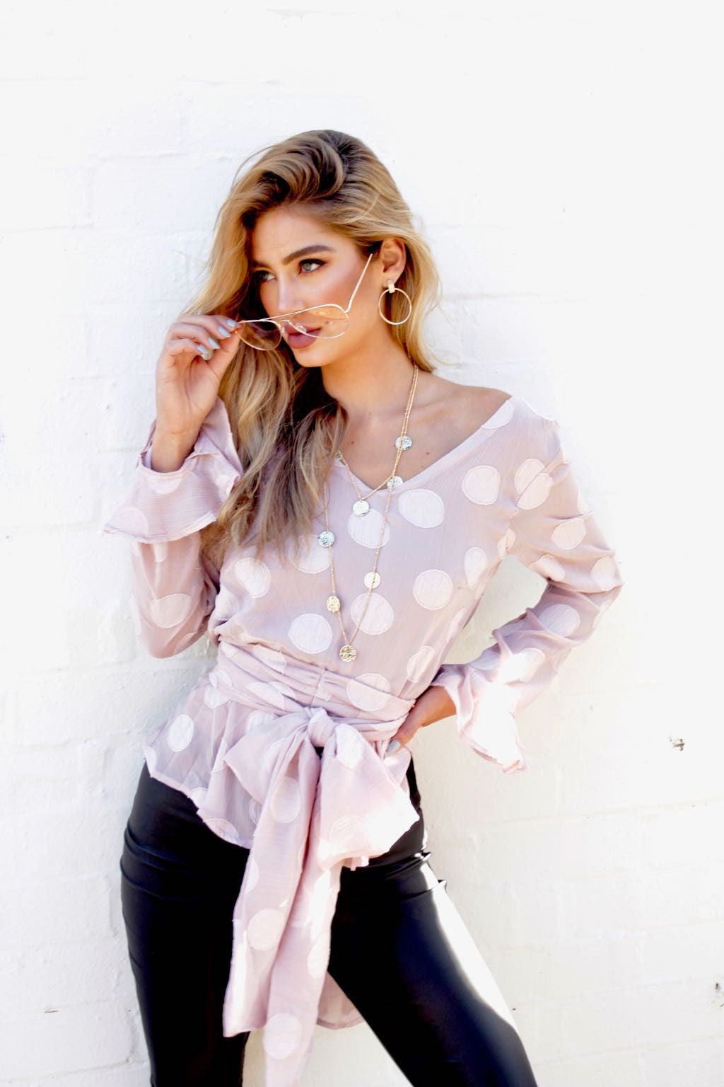 So Divine Blouse - Dusty Pink