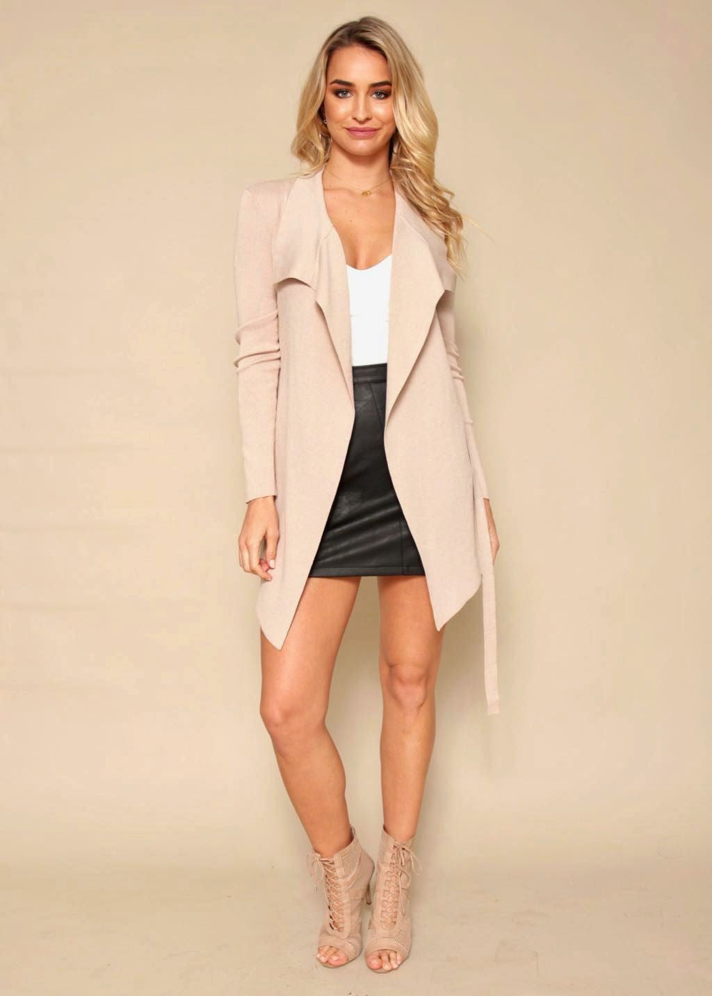 Learn To Love Knit Jacket - Blush