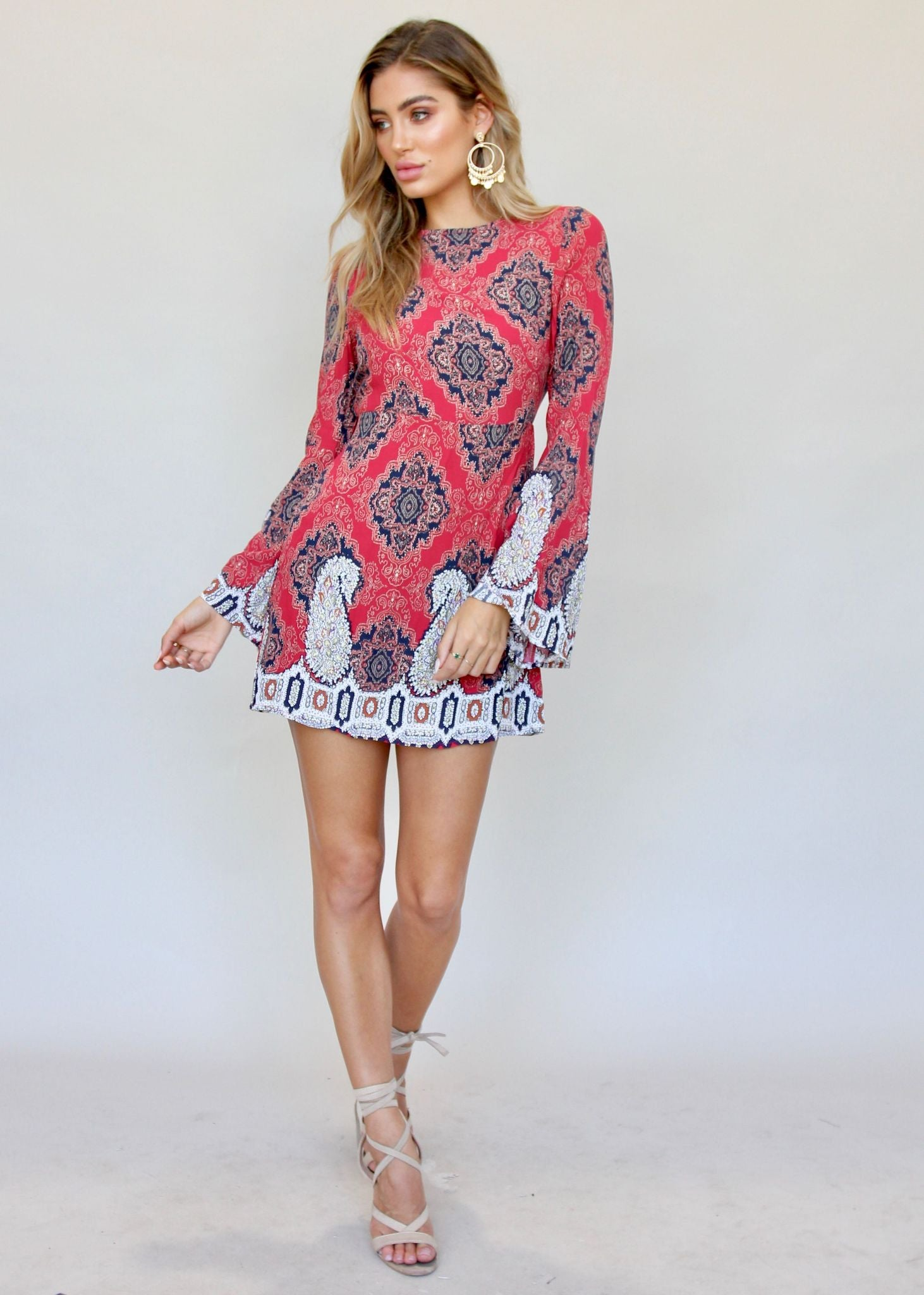 Trip Me Up Dress - Red Baroque