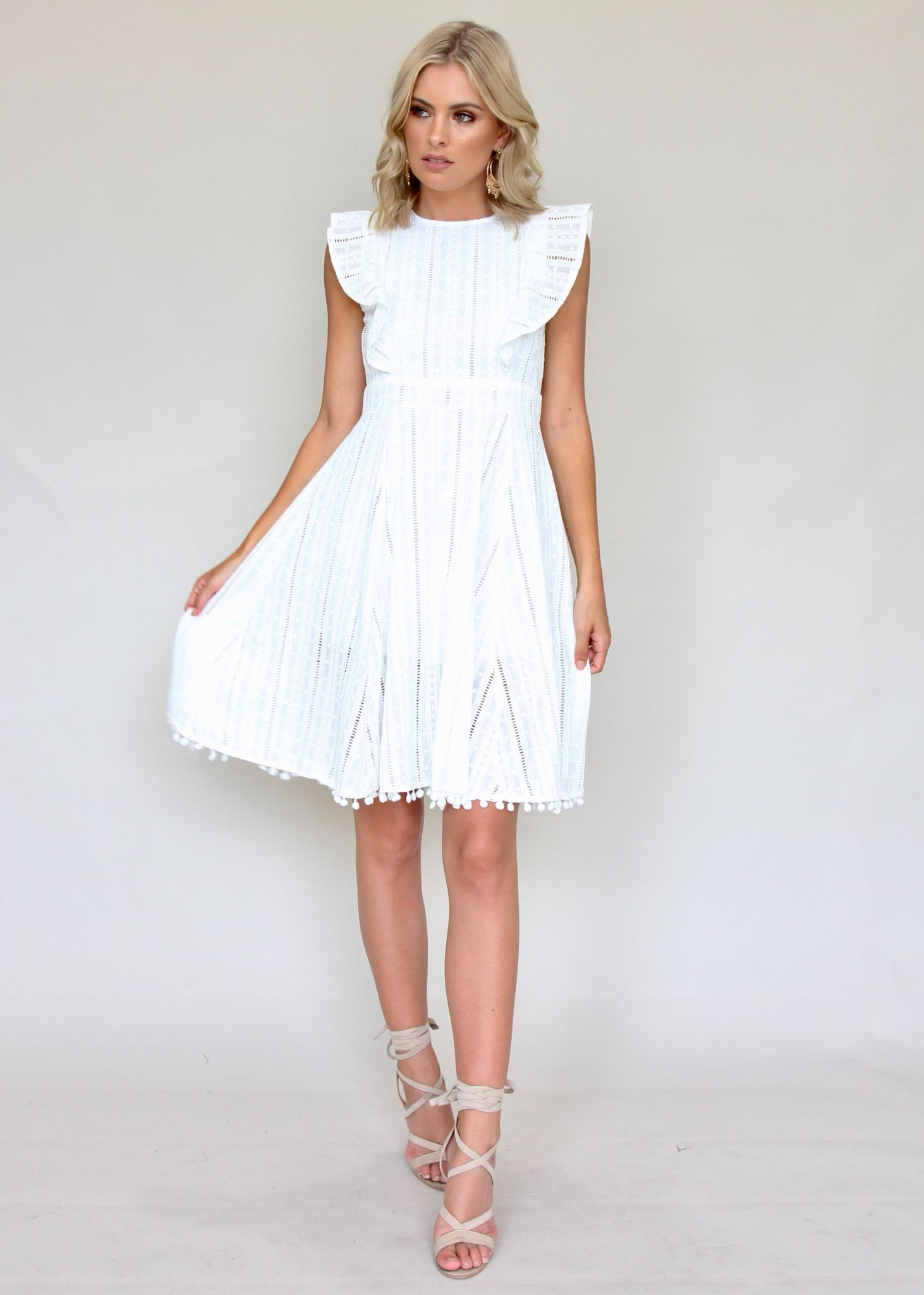 Talk About It Midi Dress - White