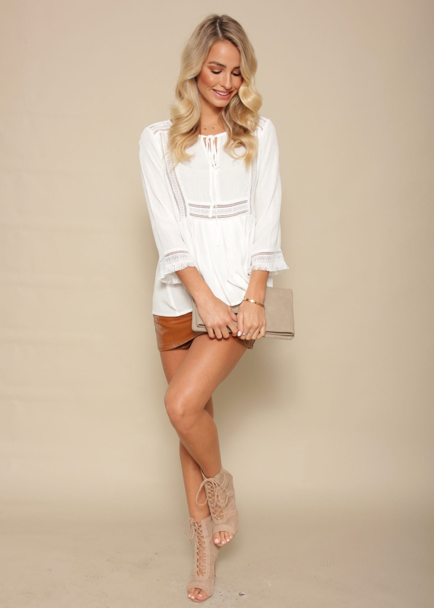 Calypso Beach Blouse - White