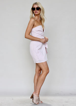 Kaia Strapless Dress - Blush