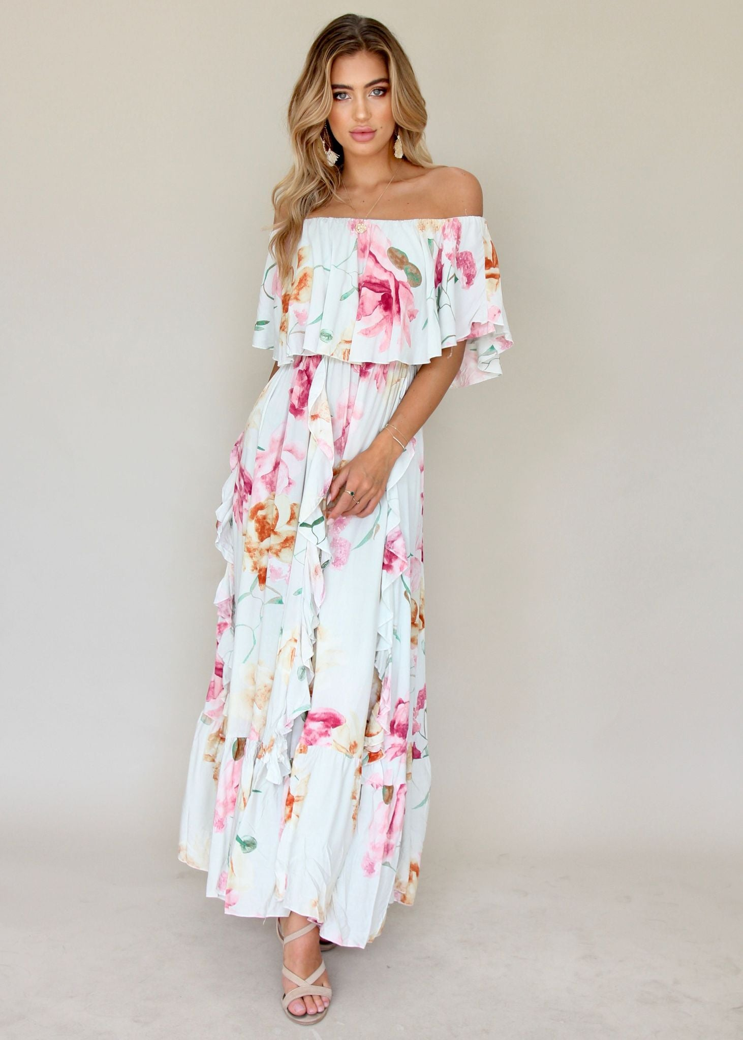 Georgie Off Shoulder Dress - Selena