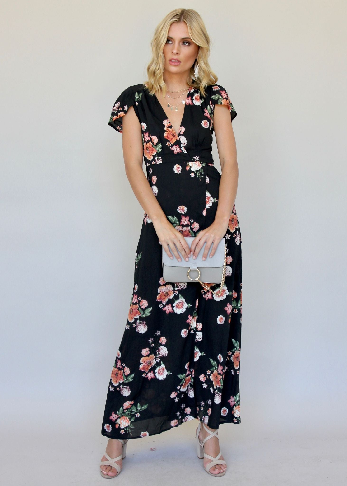 South Branch Wrap Dress - Midnight Floral