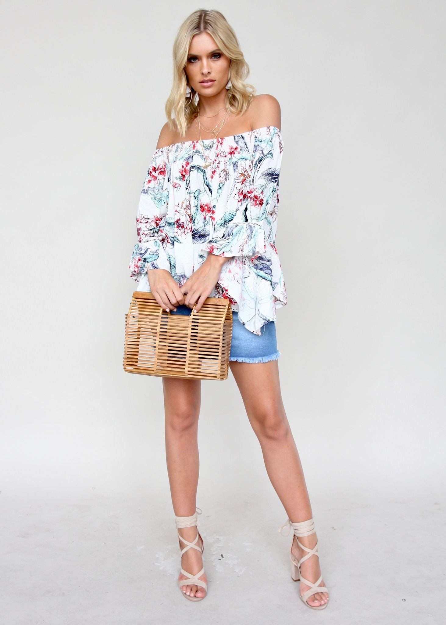 Sugar Night Off Shoulder Top - Dahlia