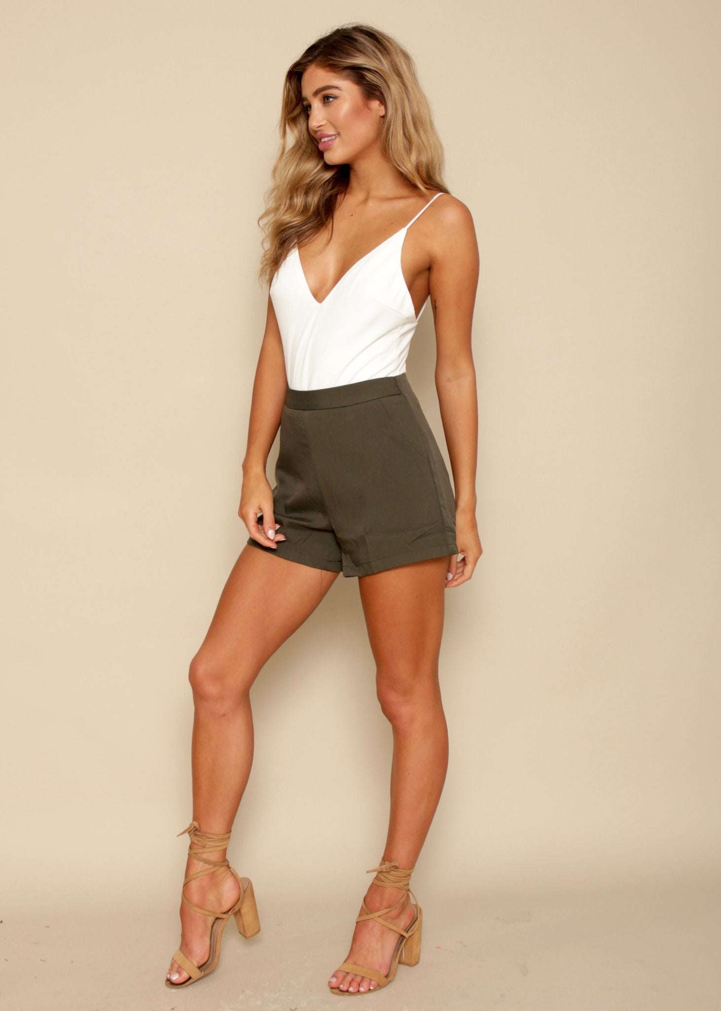 Lose Control Shorts - Khaki