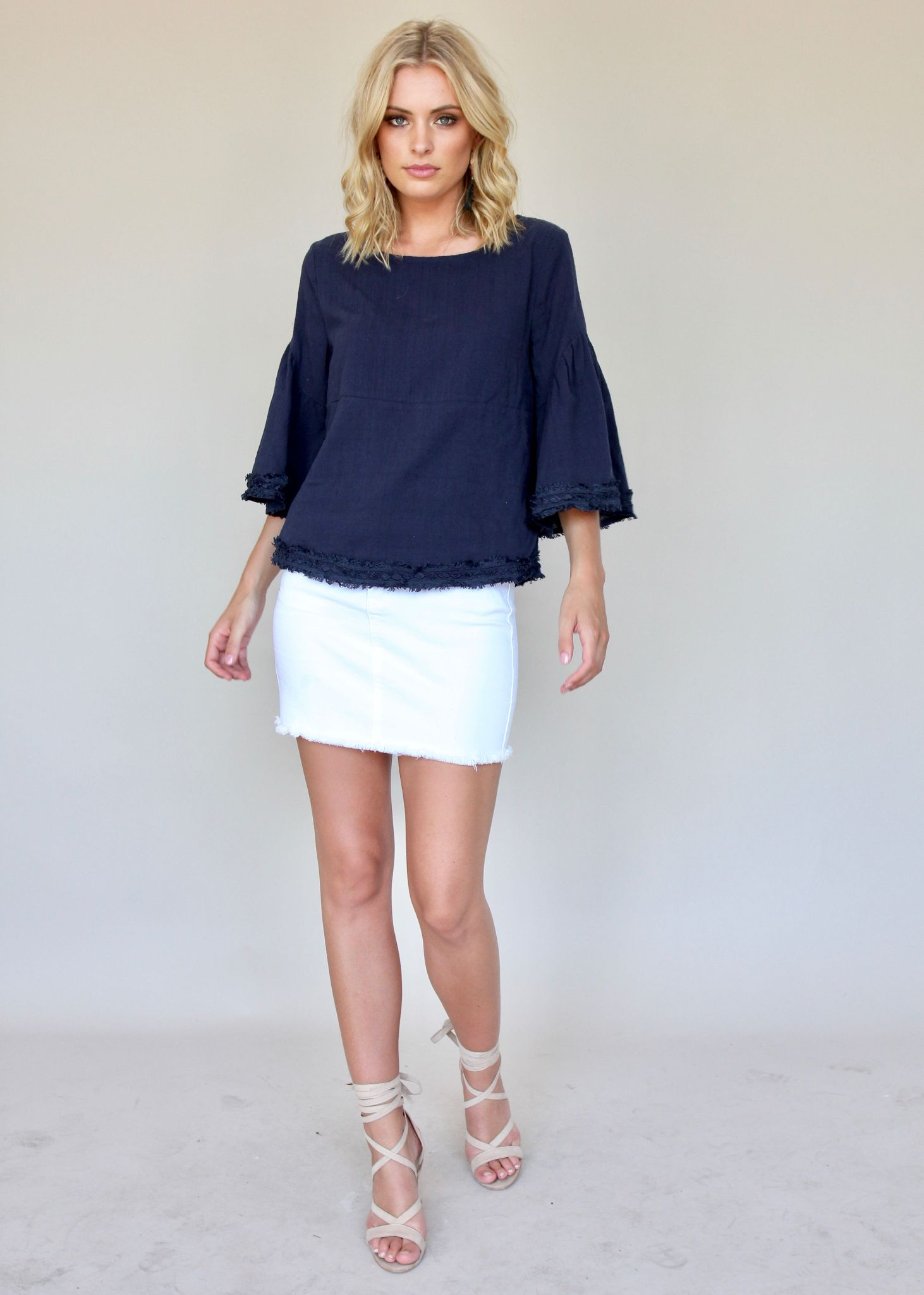 Mercy Me Blouse - Navy