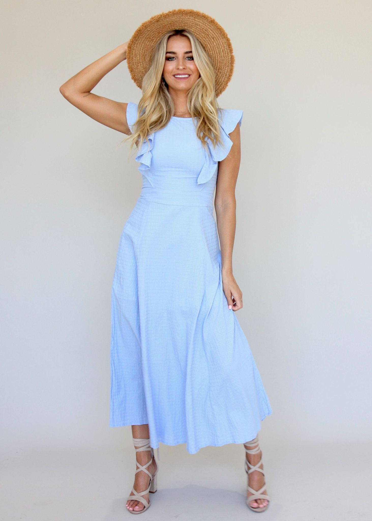 Body Of Work Dress - Steel Blue