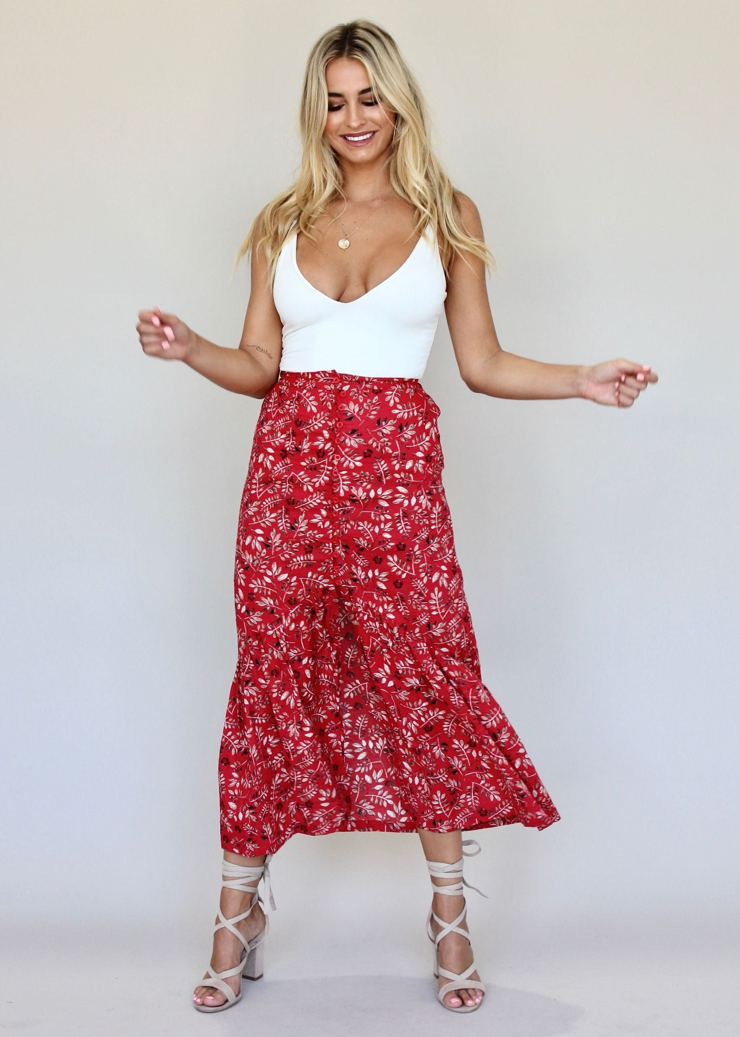 Found Simplicity Skirt - Red