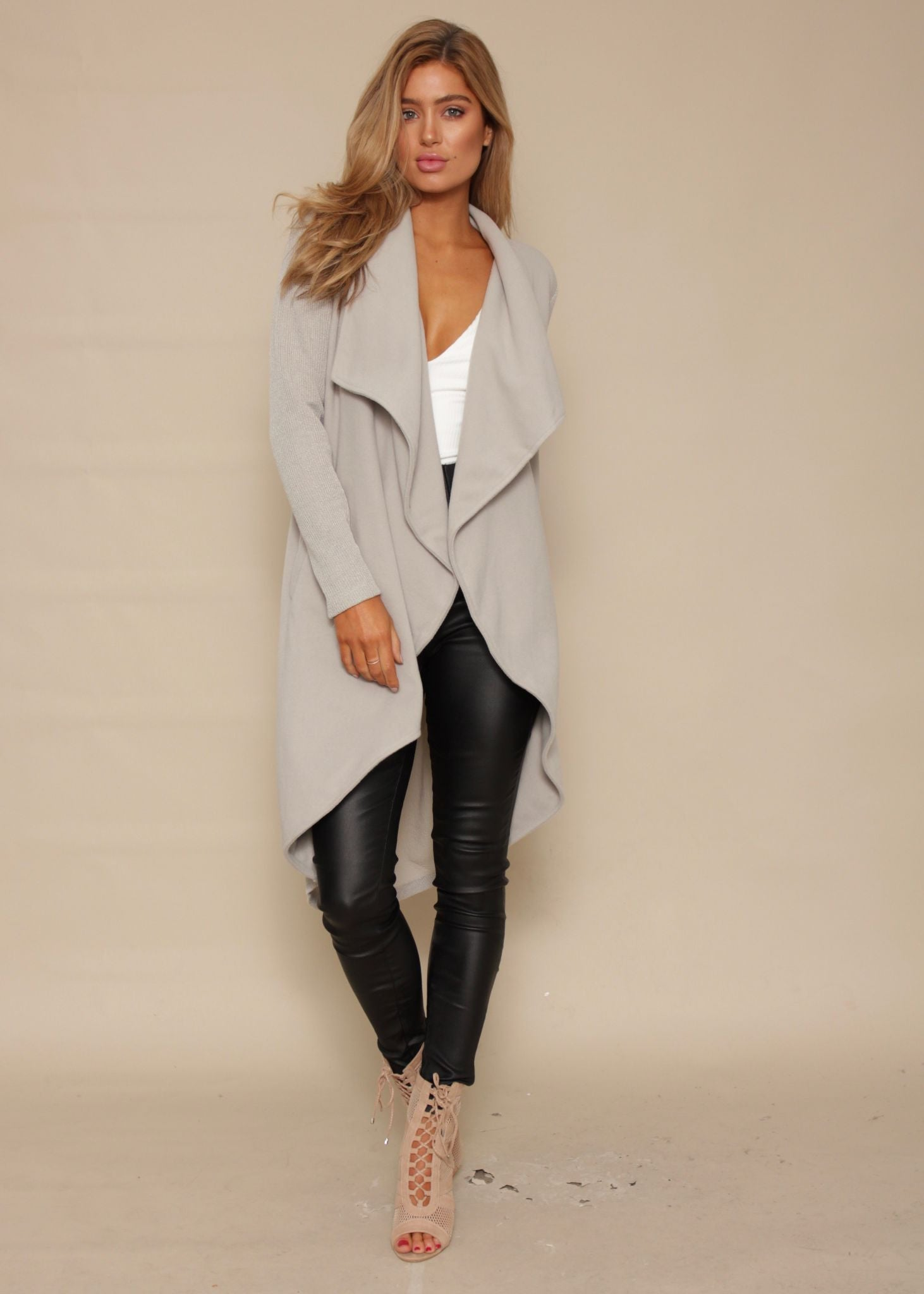 Revival Knit Coat - Silver