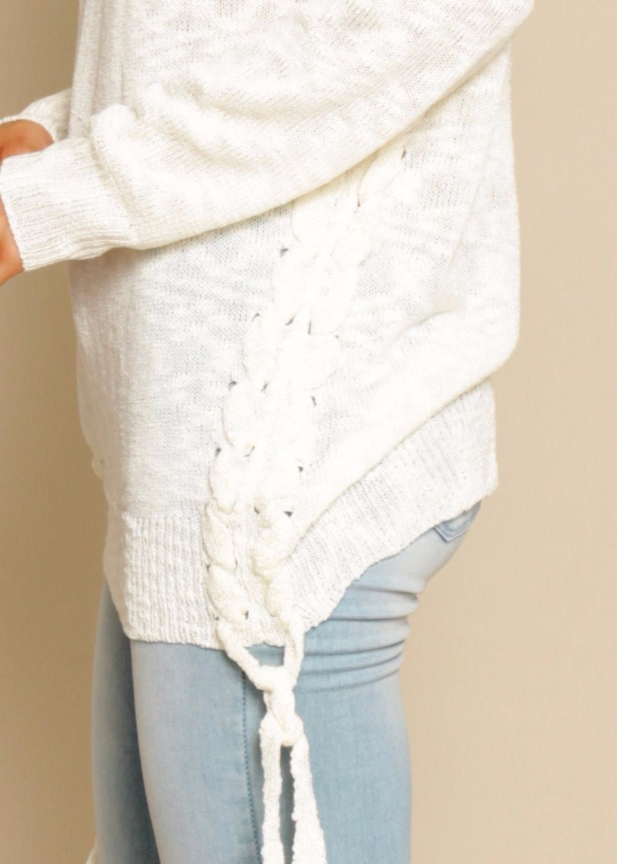 All Of Us Knit Sweater - Cream