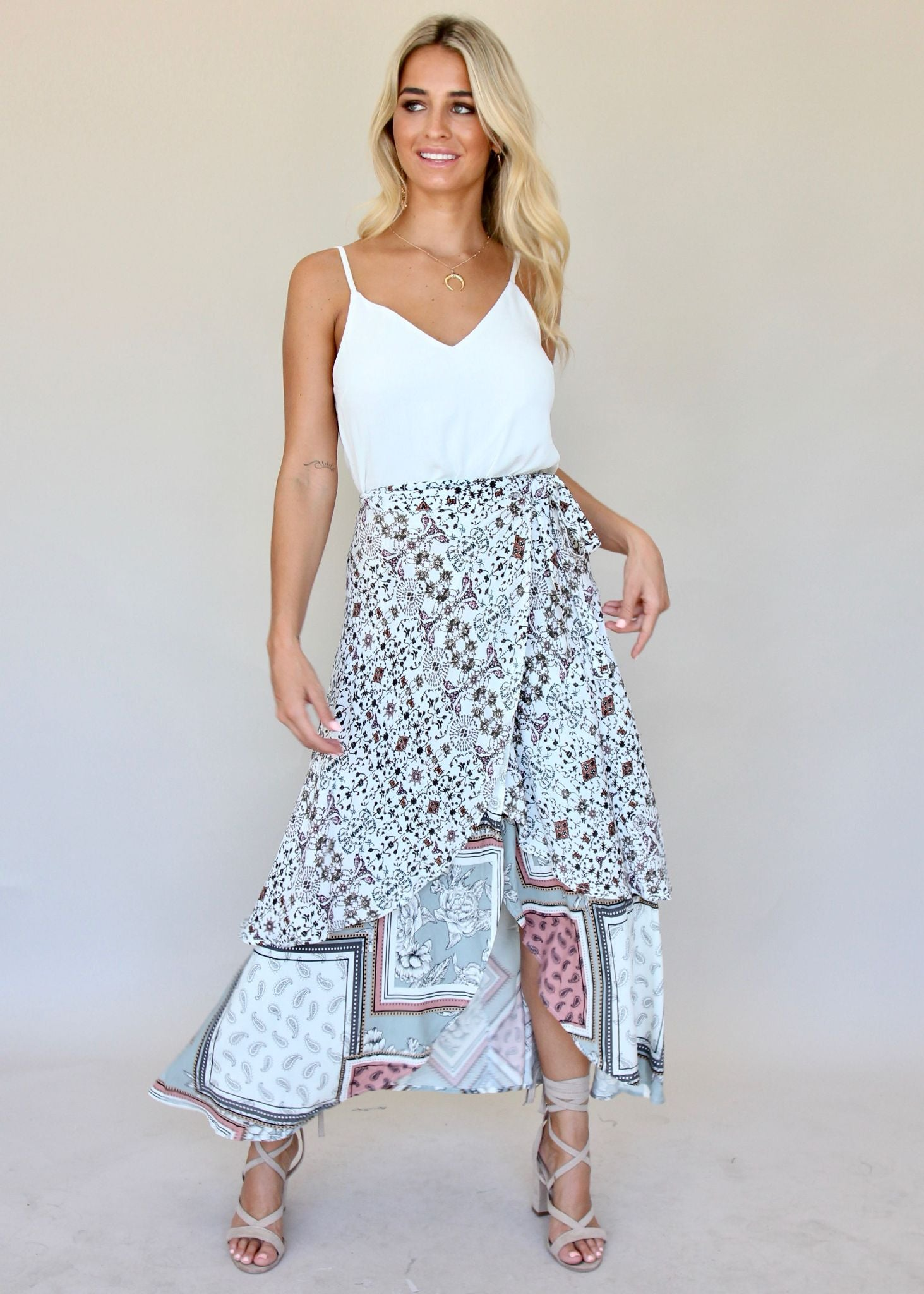 Tigeress Wrap Skirt - Aztec