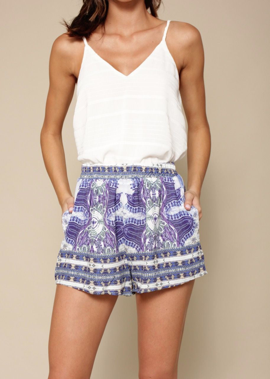 Sweetest Thing Shorts - Blue Violet