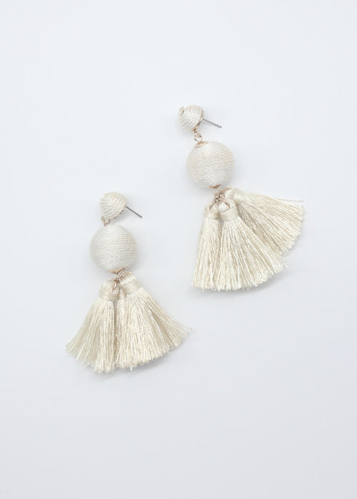Margarita Earrings - Vanilla