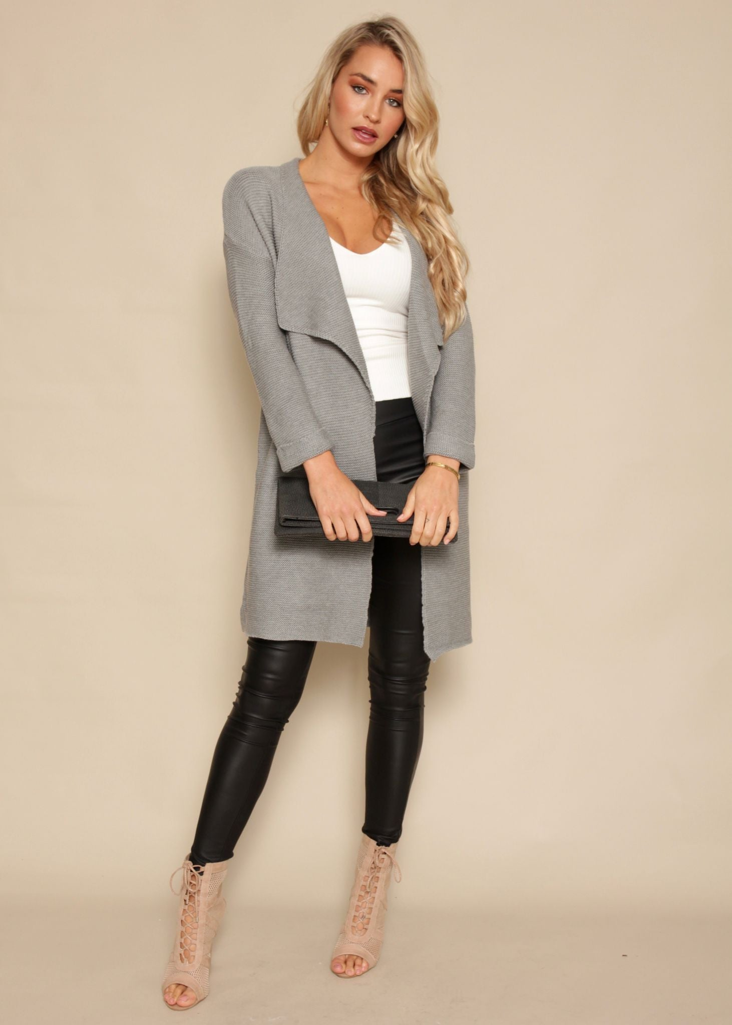 Lover Of Mine Knit Cardigan - Grey
