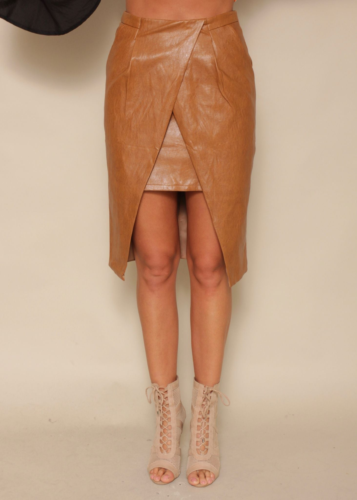 Nothing Like This PU Skirt - Cinnamon