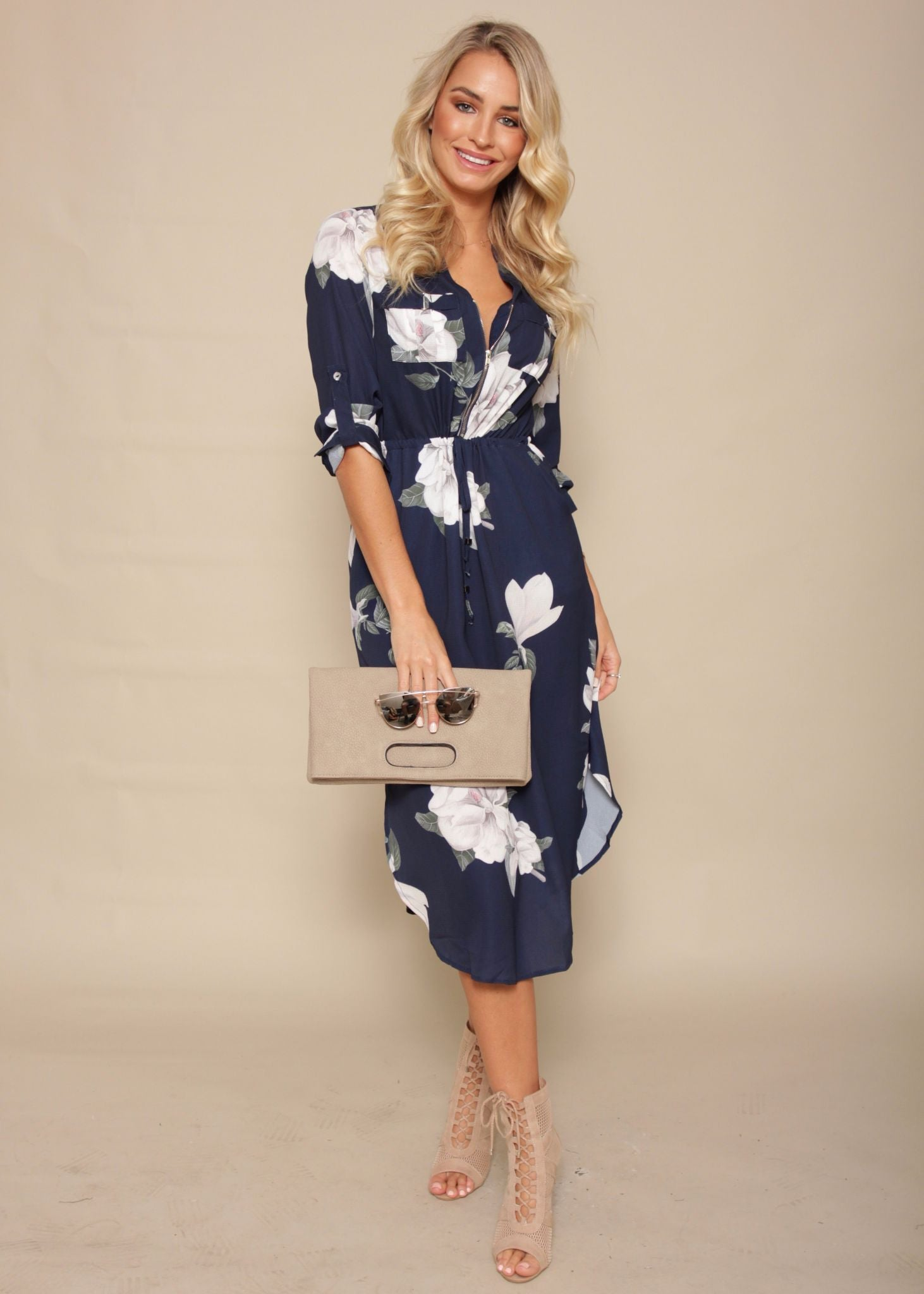 Low Lights Tunic Dress - Navy Springs