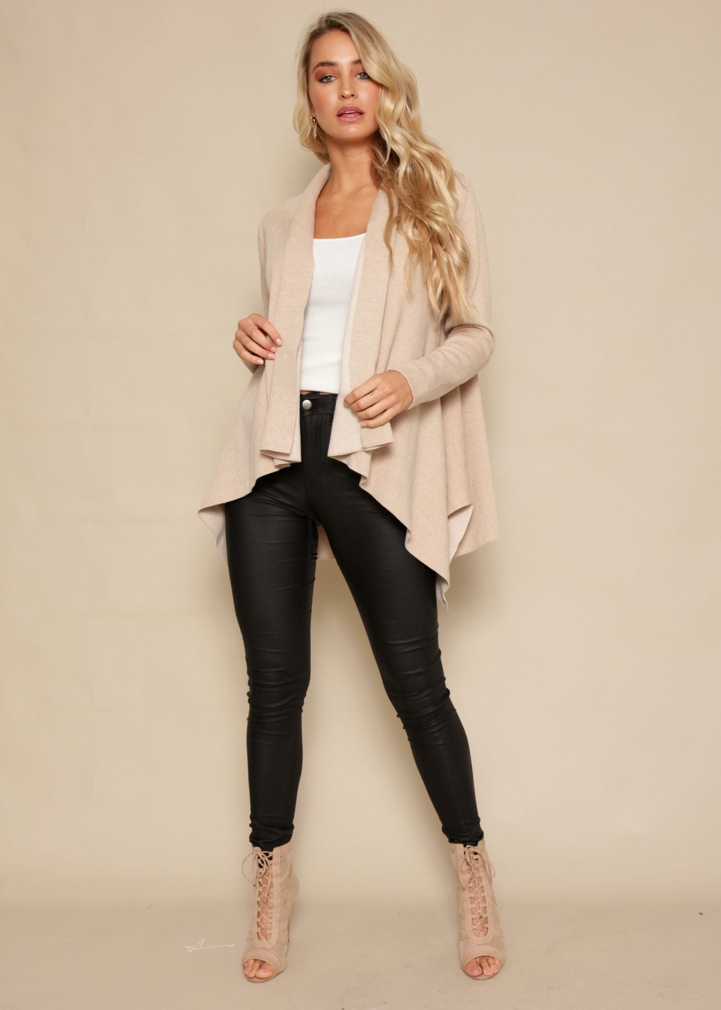 In It Together Knit Jacket - Blush