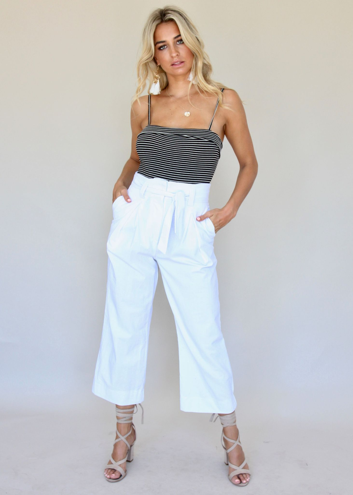 Lady of Manor Pants - White