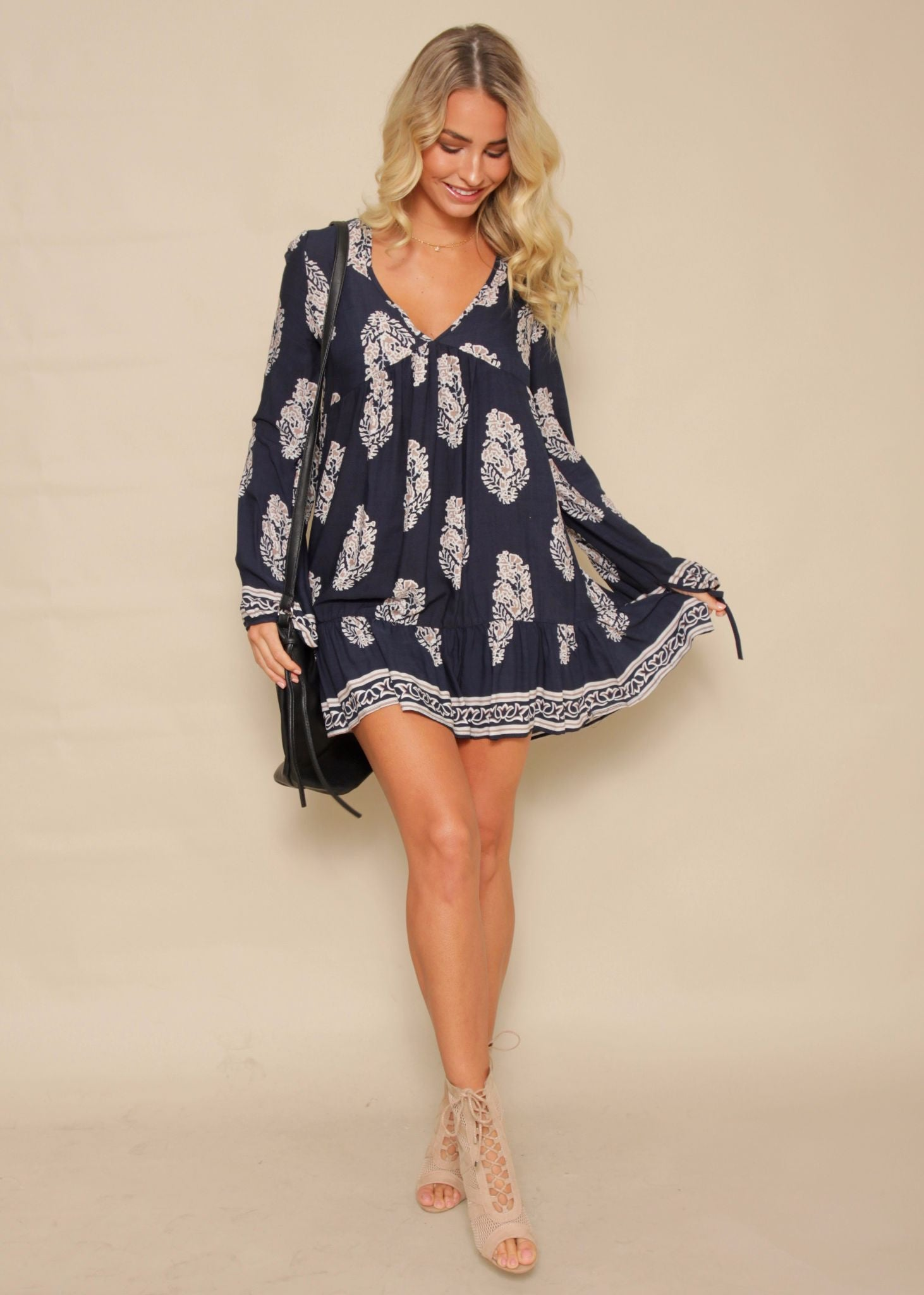 Simple Life Swing Dress - Navy