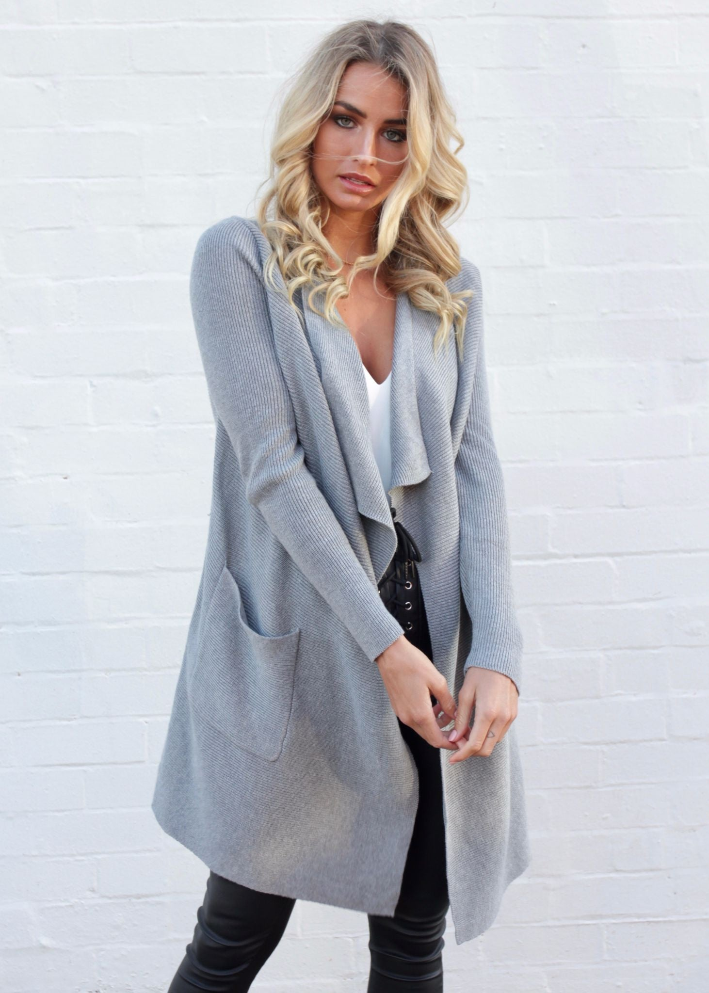 Close Encounters Knit Cardigan - Grey