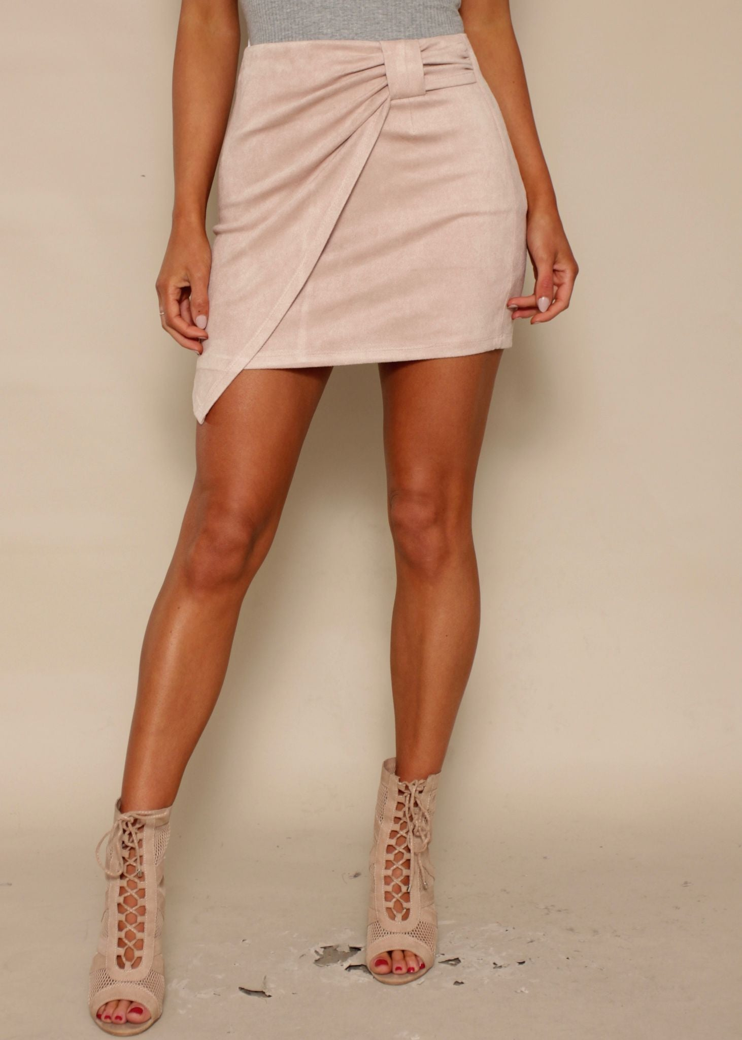 Closer In Time Skirt - Blush