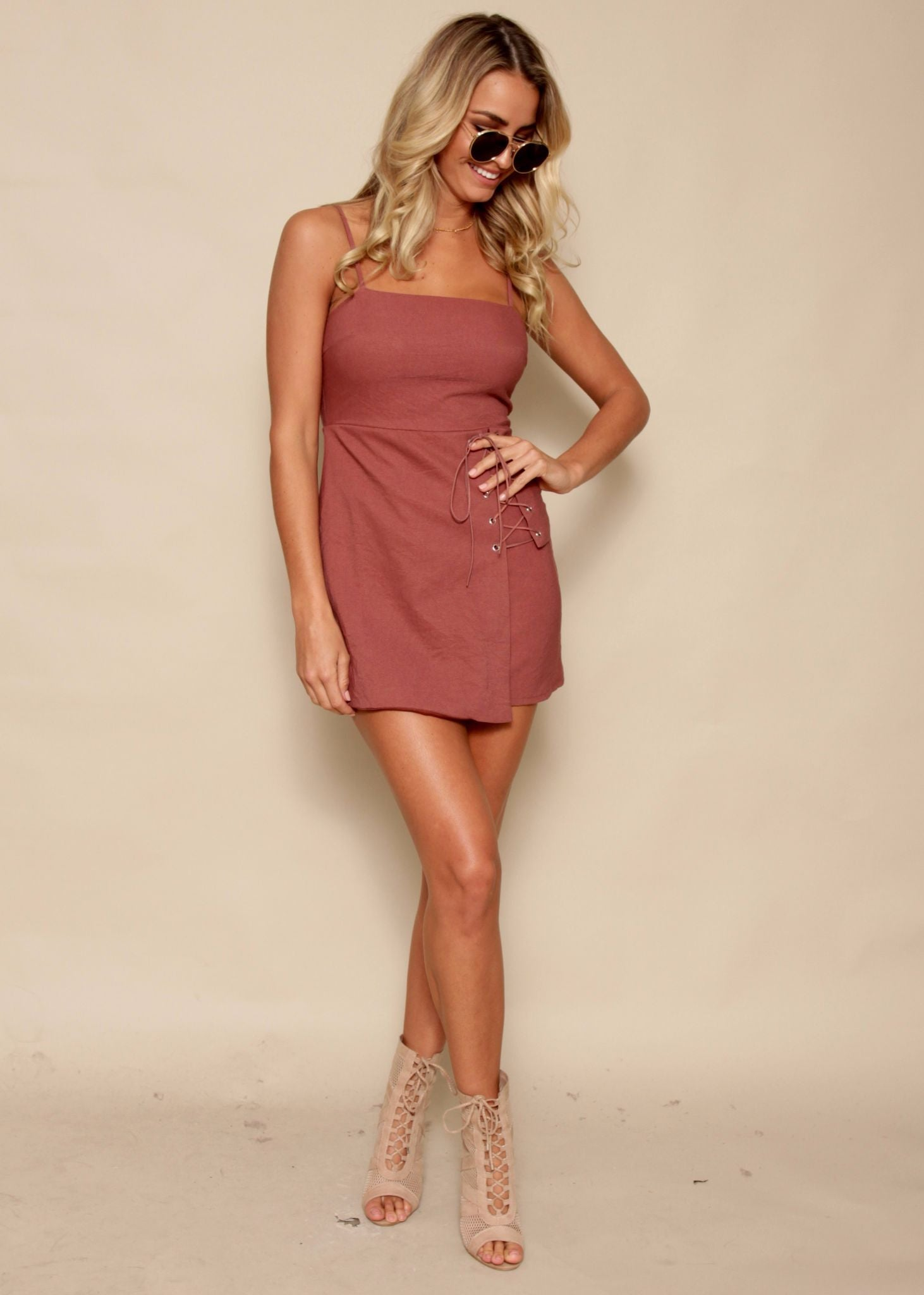 Tied To Me Dress - Mulberry