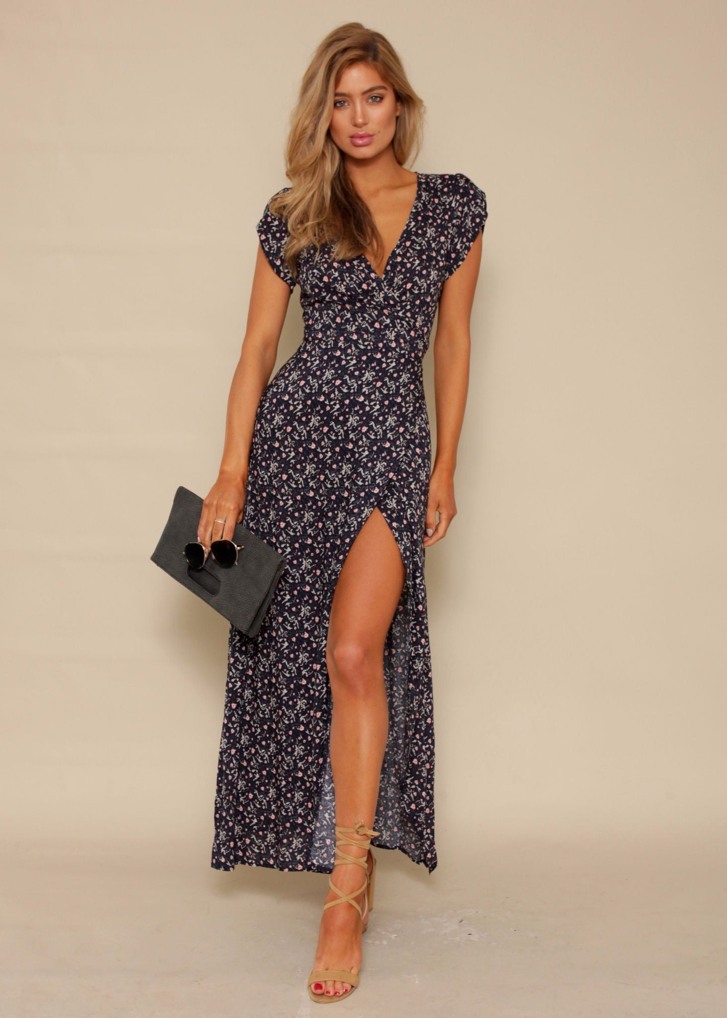Santana Wrap Dress - Baby's Breath